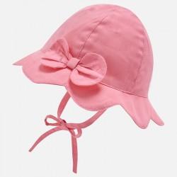 Βρεφικό ρόζ καπέλο απλικέ φιόγκος MAYORAL