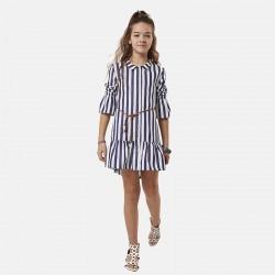 Παιδικό μπλέ φόρεμα πουκάμισο ριγέ EBITA