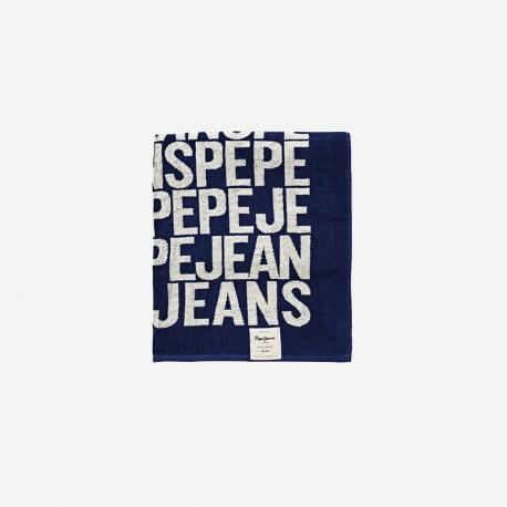 Πετσέτα θαλάσσης μπλέ με logo Pepe Jeans